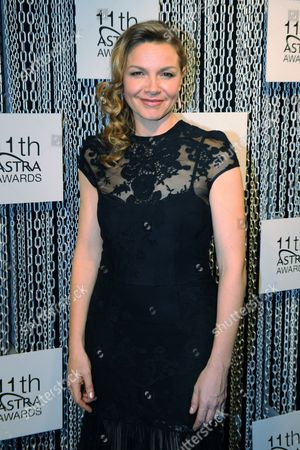 Stock Photo of Australian Actress Justine Clarke Arrives on the Red Carpet For the 11th Astra Awards in Sydney Australia 25 July 2013 the Awards Are Presented Annually by the the Australian Subscription Television and Radio Association (astra) Australia Sydney