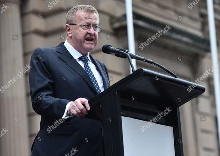 Australian Olympic Committee Boss John Coates Speaks After Australian Race Walker Jared Tallent (unseen) was Belatedly Presented with the Gold Medal For His 50km Walk at the 2012 London Olympics on the Steps of the Treasury in Melbourne Victoria Australia 17 June 2016 the 50km Walker Had Finally His 2012 Olympic Silver Medal Replaced by Gold at a Ceremony at the Treasury Building in Melbourne at Midday After Russian Athlete Sergey Kirdyapkin was Revealed As a Drug Cheat Earlier This Year and Stripped of His Title Australia Melbourne