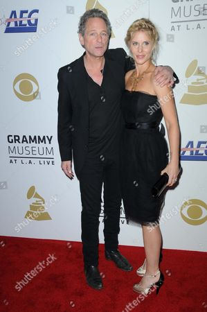 Stock Picture of Lindsay Buckingham and Wife Kristin