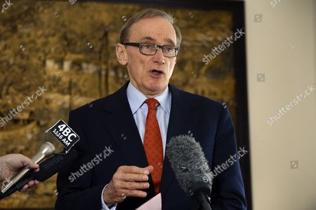 Foreign Minister Bob Carr Speaks During a Press Conference in Brisbane Australia 22 August 2013 Mr Carr Responded to Fresh Allegations of Chemical Weapons Use in Syria Australia Brisbane
