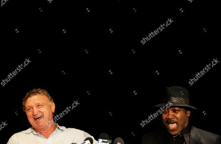 Boxer Joe Bugner (l) and American Boxer Joe Frazier (r) Speak to Media During a Press Conference in Sydney Australia on 11 March 2010 Frazier is in Australia For Bugner's 60th Birthday Charity Dinner Australia Sydney