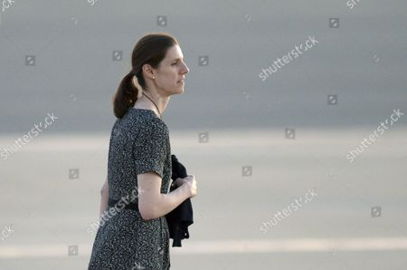 A Picture Made Available on 21 April 2014 Shows Prince George's Spanish Nanny Maria Teresa Turrion Borrallo As She Arrives at Fairbairn Airport in Canberra Australia 20 April 2014 the Duke and Duchess of Cambridge Along with Baby Prince George of Cambridge Are on an Official Visit to Australia Until 25 April Australia Canberra