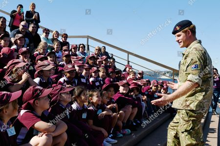Prince Harry of Wales (r) Meets Children From St Marys South Public School During a Visit to the Sydney Opera House in Sydney Australia 07 May 2015 Prince Harry Also Known As 'Captain Wales' Has Officially Finished Official Duties in Australia After a Month-long Secondment with the Australian Army Australia Sydney