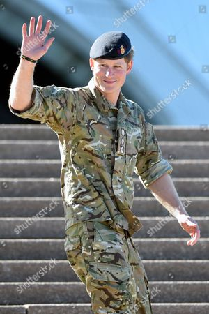 Prince Harry of Wales Waves to the Crowd During a Visit to the Sydney Opera House in Sydney Australia 07 May 2015 Prince Harry Also Known As 'Captain Wales' Has Officially Finished Official Duties in Australia After a Month-long Secondment with the Australian Army Australia Sydney