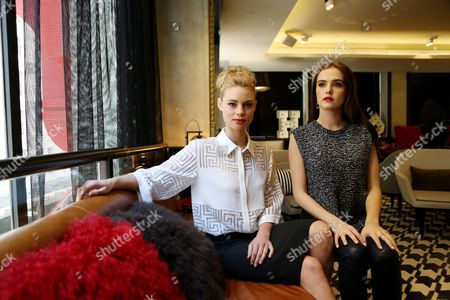Australian Actress Lucy Fry (l) and Us Actress Zoe Deutch (r) Pose For a Photograph in Sydney Australia 20 February 2014 the Pair Are in Sydney to Promote Fantasy Adventure Movie 'Vampire Academy ' Australia Sydney