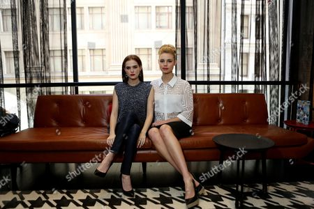 Stock Photo of Australian Actress Lucy Fry (r) and Us Actress Zoe Deutch (l) Pose For a Photograph in Sydney Australia 20 February 2014 the Pair Are in Sydney to Promote Fantasy Adventure Movie 'Vampire Academy ' Australia Sydney