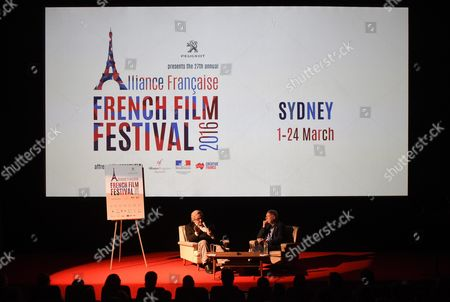 A Picture Made Available on 10 March 2016 Shows Australian Film Director George Miller (l) and Australian Film Critic David Stratton (r) Patrons of the 2016 Alliance Francìaise French Film Festival Conversing During a Pannel at Chauvel Cinemas in Sydney Australia 09 March 2016 the 27th Annual Alliance Francìaise French Film Festival 2016 Runs in Sydney From 01 to 24 March Australia Sydney