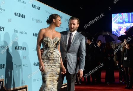 Australian Actor/cast Member Joel Edgerton (c) and His Girlfriend Alexis Blake Attend the Premiere of 'The Great Gatsby' in Sydney Australia 22 May 2013 the Movie Opens in Australian Theaters on 30 May Australia Sydney