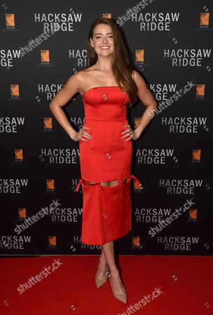 Australian Actress April Rose Pengilly Arrives For the Australian Premiere of Hacksaw Ridge in Sydney New South Wales Australia 16 October 2016 the Movie Opens in Australian Cinemas on 03 November Australia Sydney