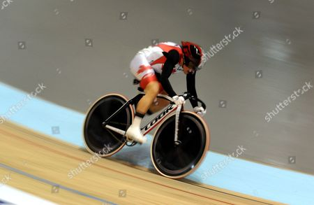Tara Whitten of Canada Rides in the Women's Omnium at the Uci Track Cycling World Championships Held in Melbourne Australia 06 April 2012 Australia Melbourne