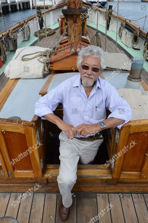 A Picture Made Available on 21 September 2013 Shows Japanese Canadian Environmentalist Dr David Suzuki On-board the Danish Tall Ship Yukon at Darling Harbour Sydney Australia 20 September 2013 Dr Suzuki Will Be the Key Note Speaker at Ecoxpo This Weekend Australia Sydney