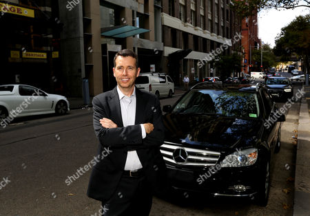 Head of Strategy For Uber David Plouffe Pictured in Sydney Australia 10 February 2015 Plouffe was a Former Campaign Manager For the Obama Administration and is Now in Charge of Uber's Global Branding Communications and Policy Australia Sydney