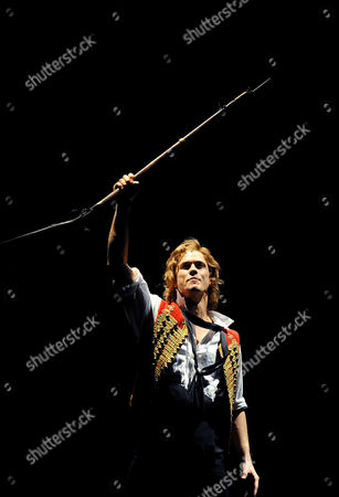 Actor Chris Durling Plays Enjolras During a Dress Rehearsal of the Musical 'Les Miserables' by Producer Alain Boublil and Composer Claude-michel Schoenberg at Her Majesty's Theater in Melbourne Australia 02 July 2014 the Legendary Production Will Officially Opens on 03 July Australia Melbourne