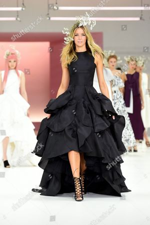 Australian Model Jennifer Hawkins Presents a Creation by Sydney-based Designer Toni Maticevski During the Media Dress Rehearsal For the Myer Spring 16 Fashion Launch in Sydney Australia 23 August 2016 Australia Sydney