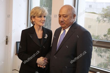 Australian Foreign Minister Julie Bishop (l) Meets with Fijian Foreign Minister Ratu Inoke Kubuabola in Her Office at Parliament House in Canberra Australia 24 June 2014 Australia Canberra