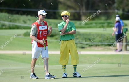 Australian Golfer Aaron Cox Wearing Plus-fours Plays Along the Third Hole During First Round of the Australian Open Golf Championship at the Lakes in Sydney Australia 06 December 2012 Australia Sydney