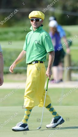 Stock Picture of Australian Golfer Aaron Cox Wearing Plus-fours Plays Along the Third Hole During First Round of the Australian Open Golf Championship at the Lakes in Sydney Australia 06 December 2012 Australia Sydney