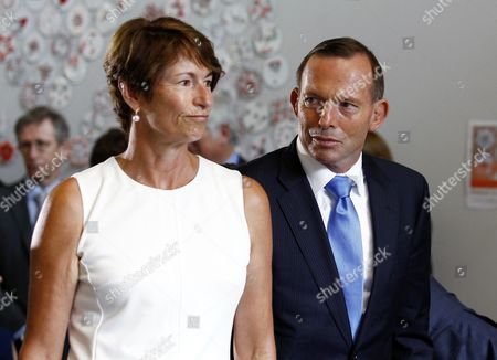 Australian Prime Minister Tony Abbott (r) and His Wife Margie Abbott (l) Are Seen at the Launch of the Chris O'brien Lifehouse Hospital in Sydney Australia 13 February 2015 the First Dedicated Cancer Hospital in New South Wales (nsw) Has Been Officially Opened by Abbott and Nsw Premier Mike Baird Australia Sydney