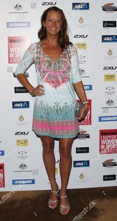 Australian Former Professional Surfer Layne Beachley on the Red Carpet of the 'I Support Women in Sport' Awards in Sydney Australia 15 October 2013 Australia Sydney