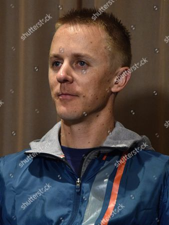 Australian Olympic Race Walker Jared Tallent Looks on During a Media Conference at a Hotel in Melbourne Victoria Australia 18 June 2016 Tallent Had His 2012 Olympic Silver Medal Replaced by Gold at a Ceremony in Melbourne a Day Earlier After Russian Athlete Sergey Kirdyapkin was Revealed As a Drug Cheat Earlier This Year and Stripped of His Title International Olympic Committee (ioc) Vice-president John Coates Said That Australia Welcomes the Decision by the International Association of Athletics Federations (iaaf) to Uphold a Ban on Russian Track and Field Athletes From International Competition Including the 2016 Olympics in Rio Over Accusations of State-sponsored Doping Australia Melbourne