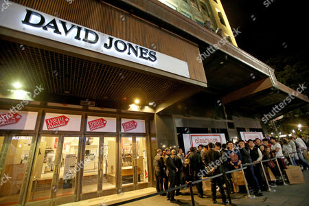 Shoppers Queue Outside David Jones For the Launch of the David Jones Clearance in the Elizabeth Street Store in the Cbd Sydney Boxing Day 26 December 2012 Australia Sydney