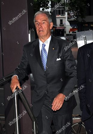 Murdoch Family Member John Calvert-jones Arrives at the Melbourne Press Club where Australian Journalist Sir Keith Murdoch (1885 1952) Will Be Inducted Into the Victorian Media Hall of Fame Australia 06 December 2012 on 05 December Dame Elizabeth Murdoch Wife of the Late Sir Keith Died at Her Home Aged 103 Australia Melbourne