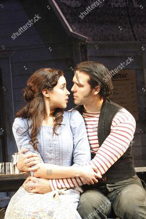 Alexandra Silber (Julie Jordan) and Jeremiah James (Billy Bigelow)