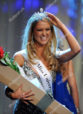 Scherri-lee Biggs From Western Australia Celebrates After She is Crowned the 2011 Miss Universe Australia at the Sofitel in Melbourne 07 July 2011 Thirty Finalists Took Part in the Event Australia Melbourne