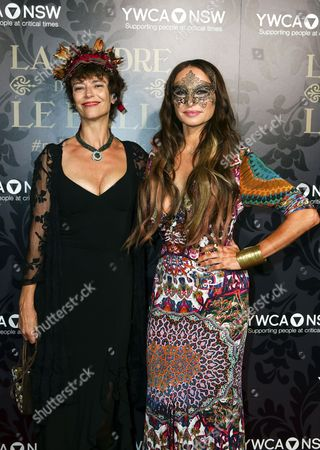A Picture Made Available on 25 May 2014 Shows British Screenwriter Rachel Ward (l) and Australian Fashion Designer Camilla Franks (r) Attending the Ymca Mother of All Balls 2014 at Town Hall in Sydney New South Wales Australia 24 May 2014 the Fund Rising Event Supports Programs For Vulnerable Women Children and Their Families Australia Sydney