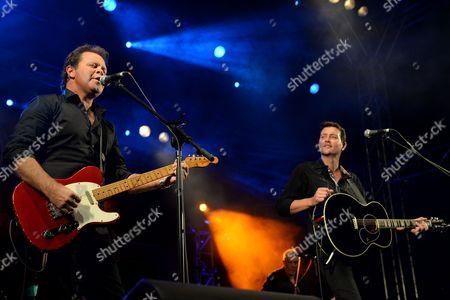 Australian Country Music Singers Troy Cassar-daley (l) and Adam Harvey (r) Perform During the Opening Concert of the 42nd Tamworth Country Music Festival in Tamworth New South Wales Australia 17 January 2014 Th Festival Runs From 17 to 26 January Australia Tamworth