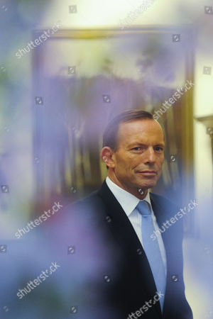 Australian Prime Minister Tony Abbott is Seen After Being Sworn in by Governor-general Quentin Bryce (not in the Picture) at Government House in Canberra Australia 18 Sepember 2013 Australia Canberra