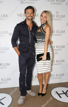Tim Robards and Anna Heinrich Arrive For the Global Launch of Heidi Klum Intimates at Bondi Icebergs in Sydney Australia 26 January 2015 Australia Sydney