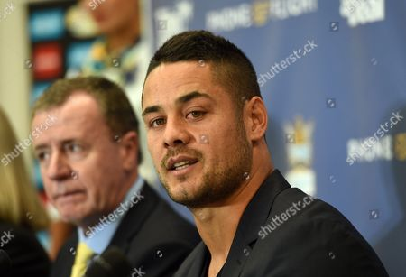 Former Parramatta Eels National Rugby League (nrl) Player Jarryd Hayne Speaks to the Media at a Press Conference on the Gold Coast Queensland Australia 03 August 2016 the Code-hopper Has Signed a Two-year Deal with the Gold Coast Titans Nrl Club Australia Gold Coast