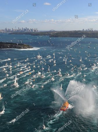 A Huge Flotilla Welcomes Teen Sailor Jessica Watson As She Sails Into Sydney Harbour Aboard Her Yacht Ella's Pink Lady Australia 15 May 2010 Watson 16 Became the Youngest Person to Sail Solo Unassisted and Non-stop Around the World After Crossing 23 000 Nautical Miles (about 38 000km) in 210 Days Australia Sydney