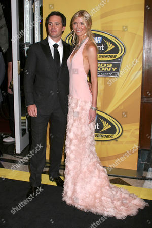 Jimmie Johnson and wife Chandra Janway
