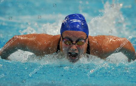 Ellen Gandy of Great Britain Competes in the Women's 200 Metre Butterfly Final at the Nsw State Open Swimming Championships in Sydney Australia 12 February 2012 Gandy Finished the Final in First Australia Sydney