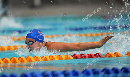 Ellen Gandy of Great Britain on Her Way to Winning the Final of the Women's 1000 Meter Butterfly at the 2012 Victorian Championships in Melbourne Saturday Jan 14 2012 Australia Melbourne