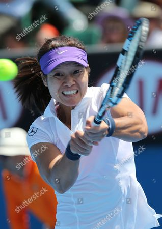 Li Na of China in Action During Her Round One Match Against Sesil Karatantcheva of Kazakstan During the Australian Open Tennis Tournament in Melbourne Australia 14 January 2013 Australia Melbourne