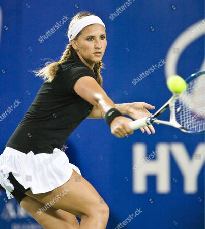 Tatiana Golovin in Action For France During Her Match Against Gisela Dulko For Argentina in the Womens Sinlges Match of the Hopman Cup in Perth Sunday Dec 30 2007 France Won the Match 6-4 6-3 Australia Perth