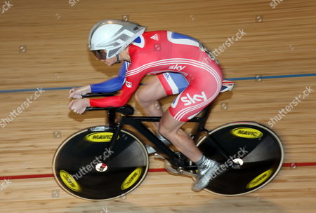 Stock Picture of Great Britain's Wendy Houvenaghel in Action During the Women's Individual Pursuit Competition at the 2012 Uci Track Cycling World Championships in Melbourne Australia 08 April 2012 Australia Melbourne