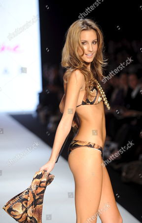 Stock Image of Former Miss Universe Australia Laura Dundovic Models For April Marie Swimwear As Part of the Swim Group Collection Show During Australian Fashion Week in Sydney Australia 29 April 2009 Australian Fashion Week is a Twice Yearly Fashion Industry Event Showcasing the Latest Seasonal Collections From Australian and Asia Pacific Designers Australia Sydney