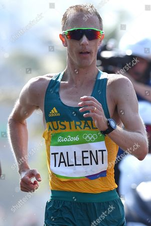 Jared Tallent of Australia Competes in the Men's 50km Race Walk of the Rio 2016 Olympic Games Athletics Track and Field Events in Pontal in Rio De Janeiro Brazil 19 August 2016 Brazil Rio De Janeiro