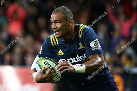 Patrick Osborne of the Highlanders Trybound During Round 6 Super Rugby Match Between the Highlanders and Force at Forsyth Barr Stadium in Dunedin New Zealand 01 April 2016 New Zealand Dunedin