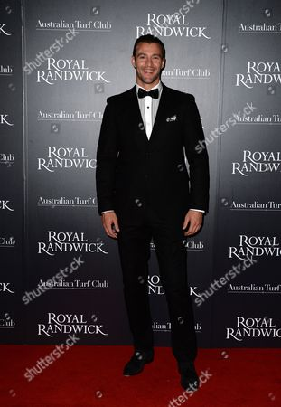 British Model Kris Smith Arrives at the Australian Turf Club's Launch of the New Royal Randwick Grandstand at Randwick Racecourse in Sydney Australia 10 October 2013 Australia Sydney