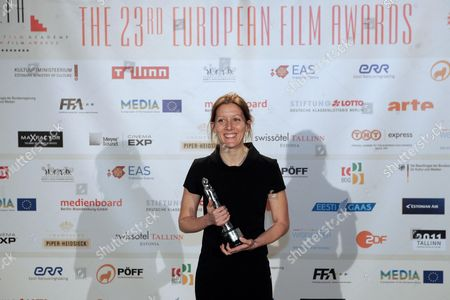 French Editor Marion Monnier Poses with the European Editor 2010 Award For the Film 'Carlos' After the 23rd European Film Awards Ceremony at the Solaris Centre's Nokia Concert Hall in Tallinn Estonia 04 December 2010 the European Film Awards 2010 Are Presented by the European Film Academy in the Estonian Capital on the Baltic Coast in Connection with Its Status As European Capital of Culture in 2011 Estonia Tallinn