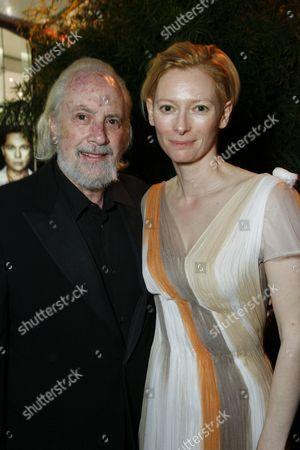 Robert Towne and Tilda Swinton