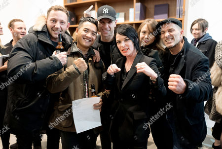 Sue Webster with her Kick Boxing Team