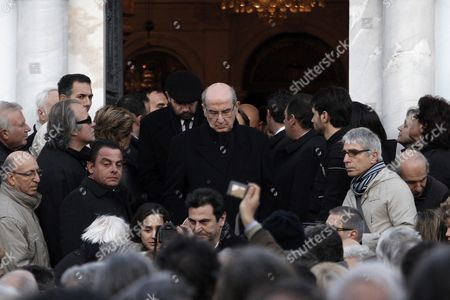 Nikos Angelopoulos (c) Brother of Late Greek Director Theo Angelopoulos Exits the Church During His Brother's Funeral in Athens Greece 27 January 2012 Theo Angelopoulos Died in a Road Accident in the Early Hours on 25 January 2012 While Working on His Latest Movie Near Athens He was 76 Greece Athens