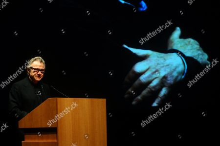 Us Actor Harvey Keitel Cries While Delivering a Speech in the Concert Hall of the Athens Megaron During a Tribute to Greek Film Director Theo Angelopoulos who Died in a Road Accident in January Athens Greece 31 May 2012 Keitel Starred in Angelopoulos' 1995 Film Ulysses' Gaze Greece Athens