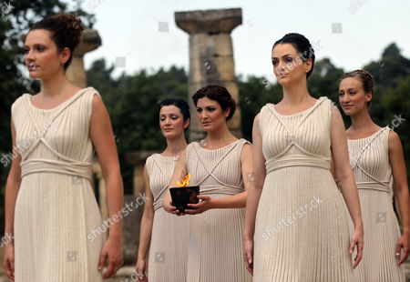 Editorial picture of Greece Olympic Flame Ceremony - May 2012